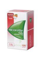 Nicorette 2 Mg Gomme à Mâcher Médicamenteuse Sans Sucre Fruits Plq/105 à HEROUVILLE ST CLAIR