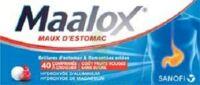 Maalox Maux D'estomac Hydroxyde D'aluminium/hydroxyde De Magnesium 400 Mg/400 Mg Sans Sucre Fruits Rouges, Comprimé à Croquer édulcoré à La Saccharine Sodique, Au Sorbitol Et Au Maltitol à HEROUVILLE ST CLAIR