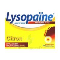 LysopaÏne Ambroxol 20 Mg Pastilles Maux De Gorge Sans Sucre Citron Plq/18 à HEROUVILLE ST CLAIR