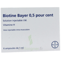 Biotine Bayer 0,5 Pour Cent, Solution Injectable I.m. à HEROUVILLE ST CLAIR