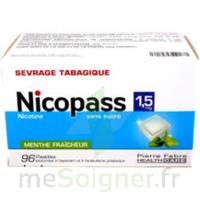 Nicopass 1,5 Mg Pastille Sans Sucre Menthe Fraîcheur Plq/96 à HEROUVILLE ST CLAIR