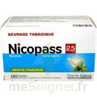 Nicopass 2,5 Mg Pastille Menthe Fraîcheur Sans Sucre Plq/96 à HEROUVILLE ST CLAIR