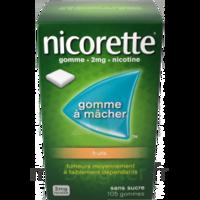 Nicorette 2 Mg Gomme à Mâcher Médicamenteuse Sans Sucre Fruits Plq/30 à HEROUVILLE ST CLAIR