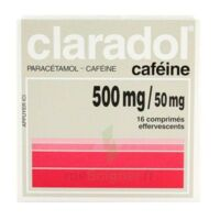 Claradol Cafeine 500 Mg/50 Mg, Comprimé Effervescent à HEROUVILLE ST CLAIR